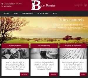 Copie d'écran du site restaurant-le-basilic