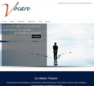 Copie d'écran de la page d'accueil du site Reseau-vocare.com
