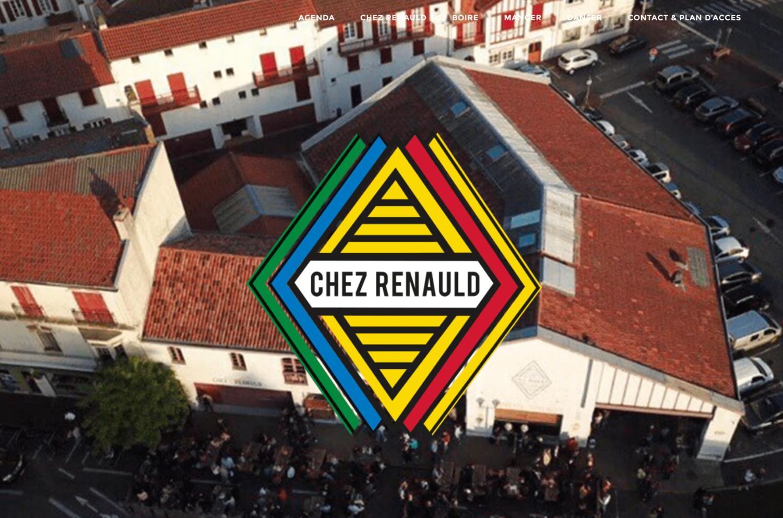 Page d'accueil du site Chez Renauld