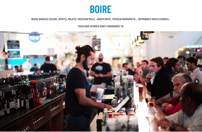 Page Boire du site Chez Renauld